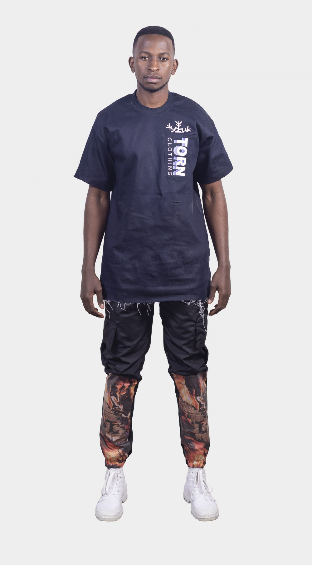 FROSTED DENIM TEE